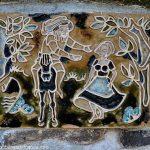 Céramique illustrant la légende