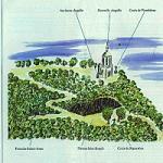 Copie d'une aquarelle représentant le site