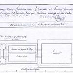 Plan du projet de 1824 conservé au Archives départementales