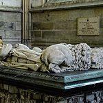 Gisant de Pierre de Baujeau et de sa femme Anne