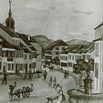Lithographie de la Fontaine au XIXème siècle