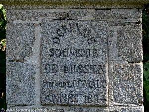 Inscription sur socle du calvaire